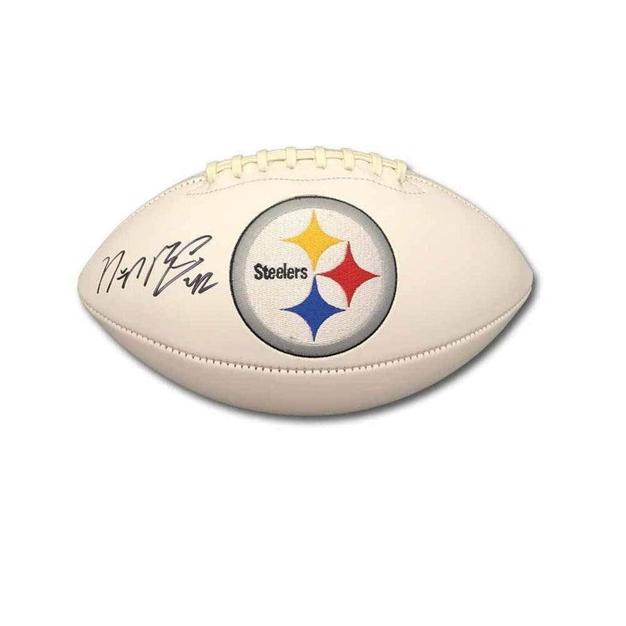 Signed STEELERS Balls Morgan Burnett Signed Pittsburgh Steelers White Logo Football