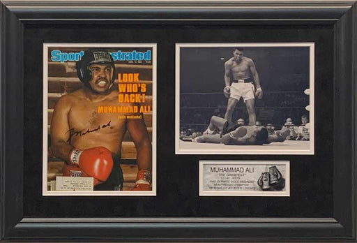 "Muhammad Ali Autographed Authentic ""Look Who's Back"" Sports Illustrated - Professionally Framed"