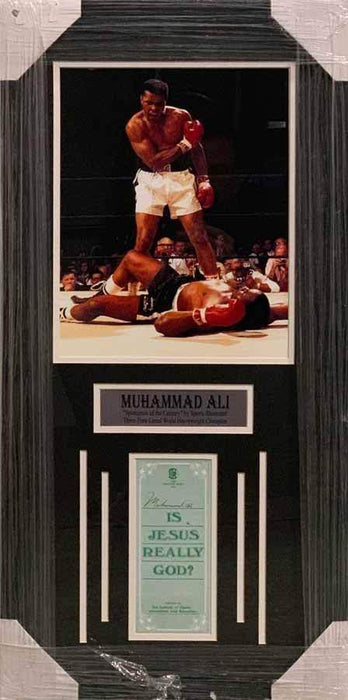 Muhammad Ali Autographed Is Jesus Really God Pamphlet - Professionally Framed Default Title