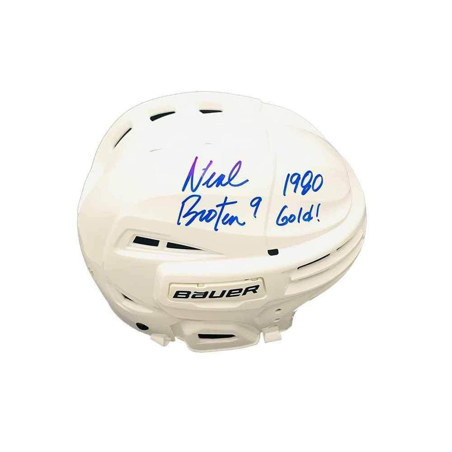 Neal Broten Signed Full Sized Helmet with 1980 USA Gold