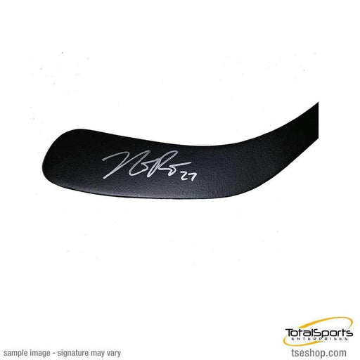 Nick Bjugstad Signed Pittsburgh Penguins Black Mini Stick
