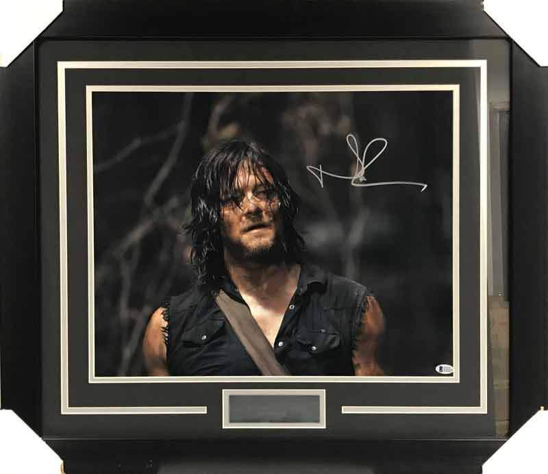 Norman Reedus Signed Close-up 16x20 Photo - Professionally Framed