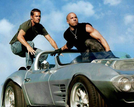 Paul Walker and Vin Diesel Fast 5 Unsigned 8x10 Photo
