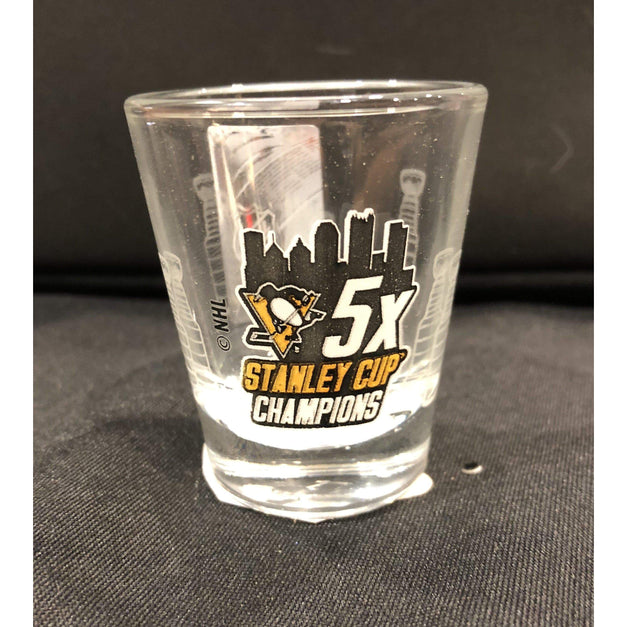 Fan Souvenirs PENGUINS Penguins 5x Champs 2 oz. Shot Glass