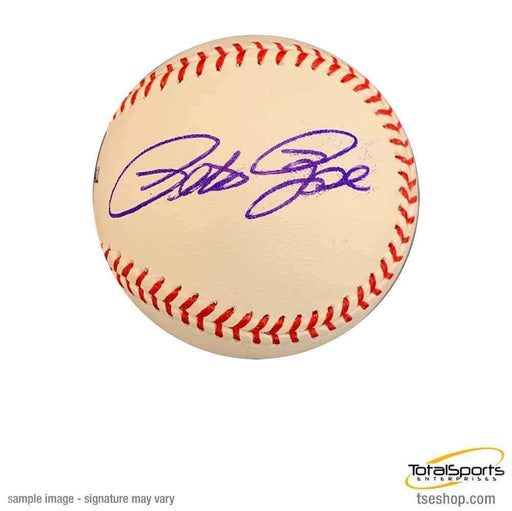 Pete Rose Autographed MLB Baseball with Charlie Hustle Inscription