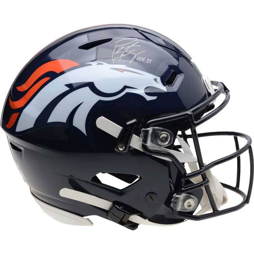 "Peyton Manning Denver Broncos Autographed Riddell Speed Flex Authentic Helmet with ""HOF 21"" Inscription"
