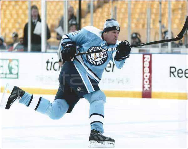 Phil Bourque Winter Classic Slap Shot Framed 8x10 Photo - Unsigned
