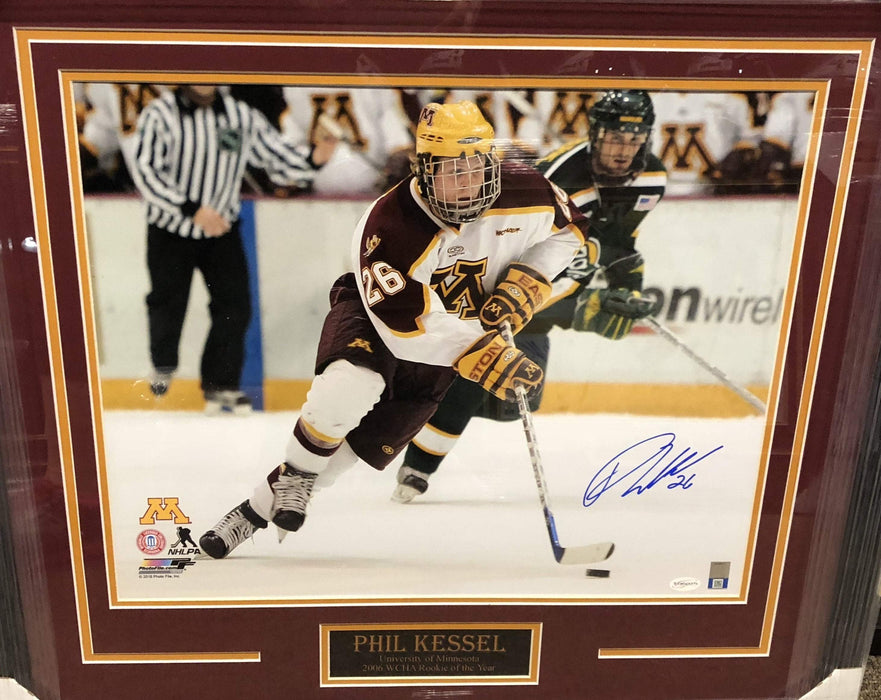 Phil Kessel Signed University of MN 16x20 - Professionally Framed