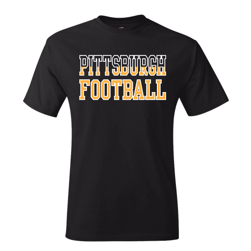 Fan Apparel STEELERS Pittsburgh Football (Black to Gold Gradient) T-shirt