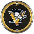 PITTSBURGH PENGUINS Chrome Clock