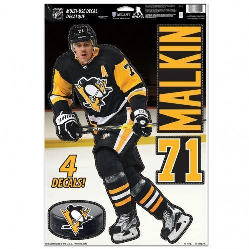 "Pittsburgh Penguins Multi-Use Decal 11"" x 17"" Evgeni Malkin"