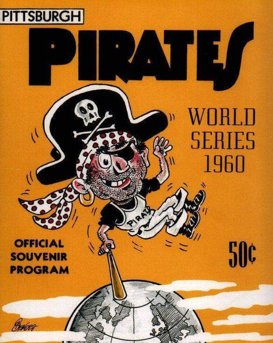 Pittsburgh Pirates 1960 World Series Program Front Cover Unsigned 8x10 Photo