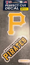 Pittsburgh Pirates Decal - 2 Pack