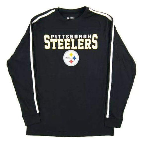 Pittsburgh Steelers Black End of the Line V-Neck Long Sleeve Tee Shirt