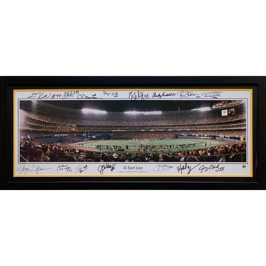 Pittsburgh Steelers Multi-Signed Panoramic of Three Rivers Stadium from 45 Yard Line
