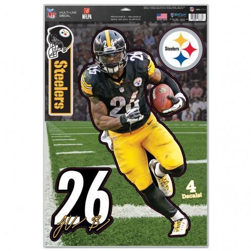 "Pittsburgh Steelers Multi-Use Decal 11"" x 17"" LeVeon Bell"