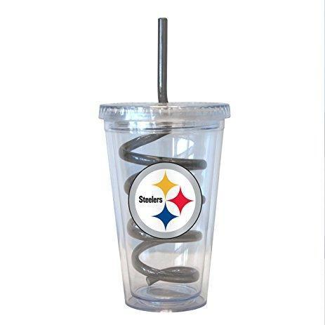 Pittsburgh Steelers Plastic Tumblr with Straw