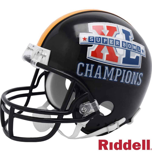Pittsburgh Steelers SB XL Champions Unsigned Black Mini Helmet