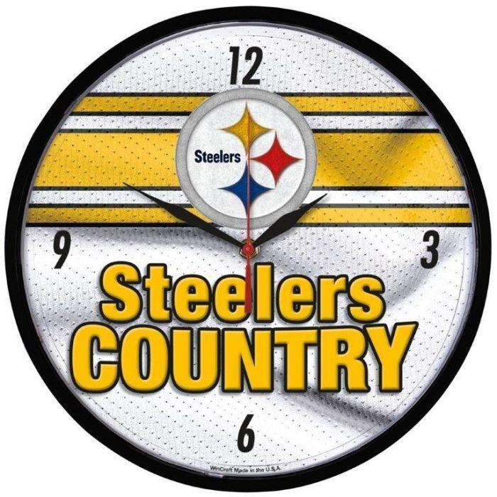 PITTSBURGH STEELERS Steeler Country Wall Clock