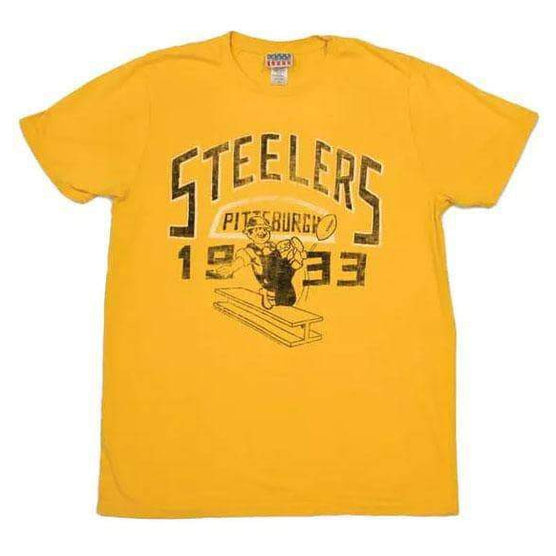 Pittsburgh Steelers Yellow Gridiron Kick Off Vintage Tee Shirt Medium