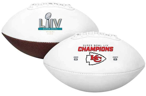 PRE-SALE: Damien Wilson Signed Kansas City Chiefs Red Super Bowl 54 White Logo Football