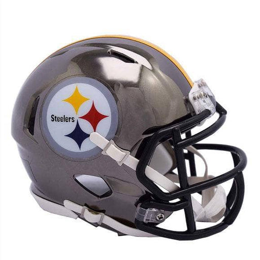 Pre-Sale: Devin Bush Signed Pittsburgh Steelers Chrome Speed Mini Helmet