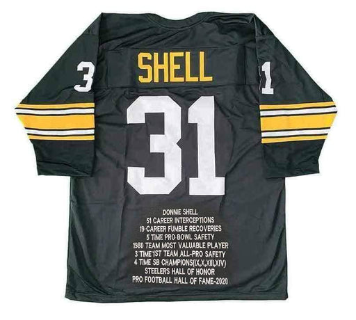 PRE-SALE: Donnie Shell Signed Black STAT Custom Jersey