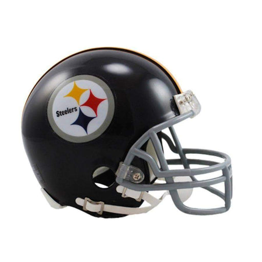 PRE-SALE: Donnie Shell Signed Pittsburgh Steelers Black Throwback Mini Helmet