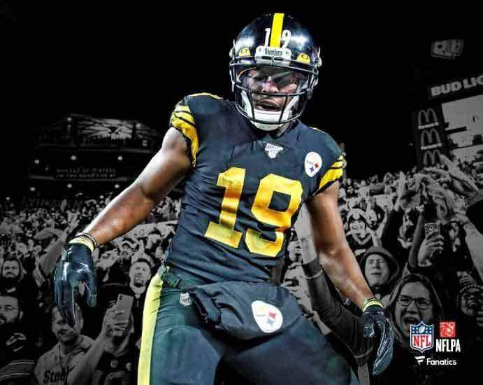 PRE-SALE: JuJu Smith-Schuster Signed Color Rush Spotlight 16x20 Photo