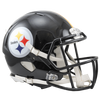 PRE-SALE: Justin Layne and Steven Nelson Signed Pittsburgh Steelers Black Authentic SPEED Helmet