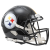 PRE-SALE: Justin Layne and Steven Nelson Signed Pittsburgh Steelers Black Replica SPEED Helmet
