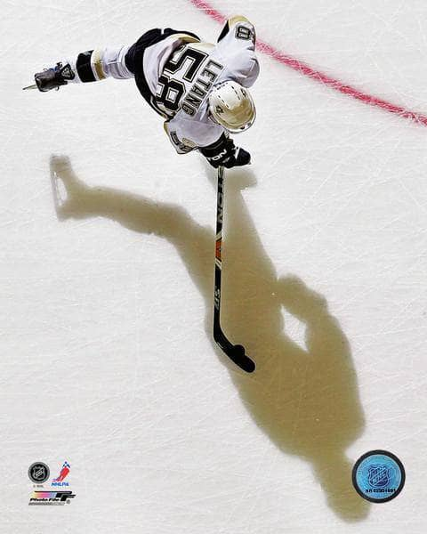 Pre-Sale: Kris Letang Signed Overhead with Shadow 8x10 Photo