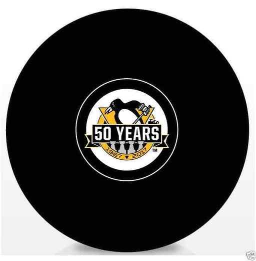 Pre-Sale: Kris Letang Signed Pittsburgh Penguins Signed 50 Years Logo Puck