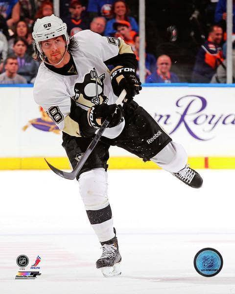 Pre-Sale: Kris Letang Signed Shooting in White 8x10 Photo