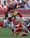 PRE-SALE: Matt Breida Signed Leaping vs. Giants 8x10 Photo