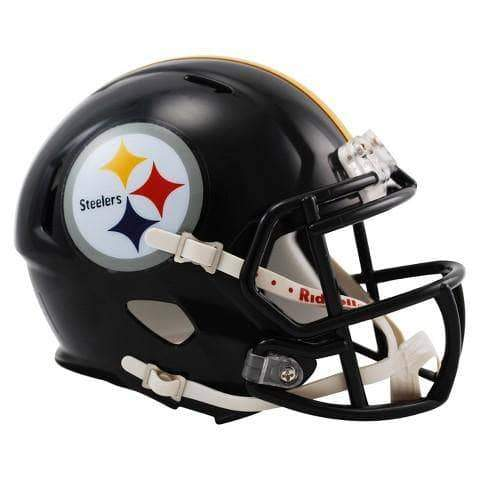 PRE-SALE: Merrill Hoge Signed Pittsburgh Steelers SPEED Black Mini Helmet