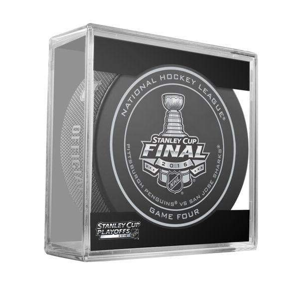 PRE-SALE: Mike Lange Signed Pittsburgh Penguins 2016 SC Finals Game 4 Game Model Puck with Free HOF Inscription No Thanks, Just HOF
