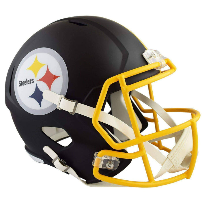 PRE-SALE: Minkah Fitzpatrick Signed Pittsburgh Steelers Black MATTE Authentic Full Size Helmet
