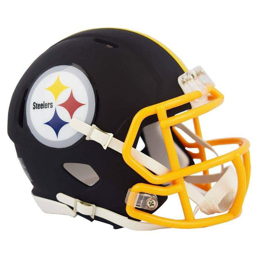 PRE-SALE: Plaxico Burress Signed Pittsburgh Steelers Black MATTE Mini Helmet