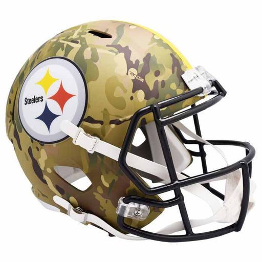 Pre-Sale: Rocky Bleier Signed Pittsburgh Steelers Replica CAMO Full Size Helmet