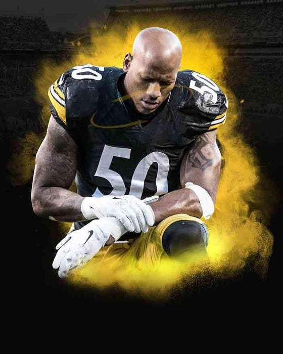 PRE-SALE: Ryan Shazier Signed Praying Burst 16x20 Photo