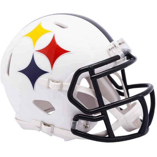 PRE-SALE: Troy Polamalu Signed Pittsburgh Steelers AMP White Mini Helmet