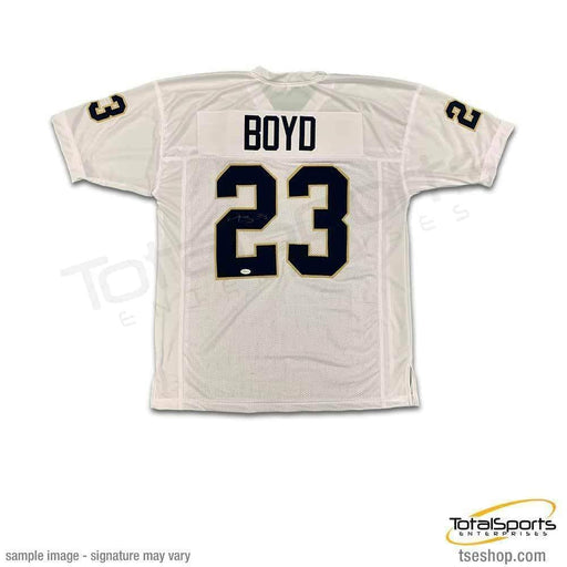 PRE-SALE: Tyler Boyd Signed Custom College White Jersey