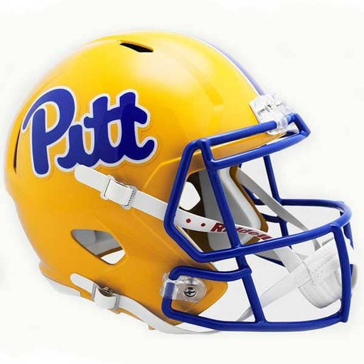 PRE-SALE: Tyler Boyd Signed PITT Gold SPEED Replica Full Size Helmet with Blue Mask