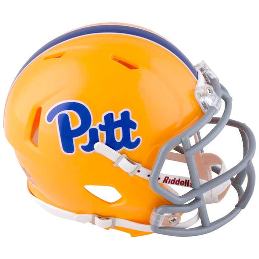 PRE-SALE: Tyler Boyd Signed PITT Gold SPEED Replica Full Size Helmet with Gray Mask