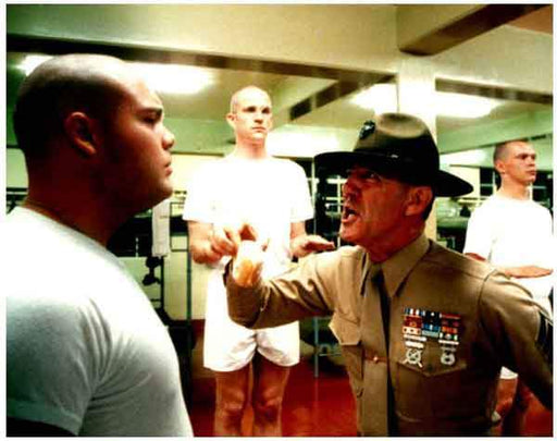Fan Photo CELEBRITY R. Lee Ermy and Vincent D'Onofrio Full Metal Jacket 8x10 photo