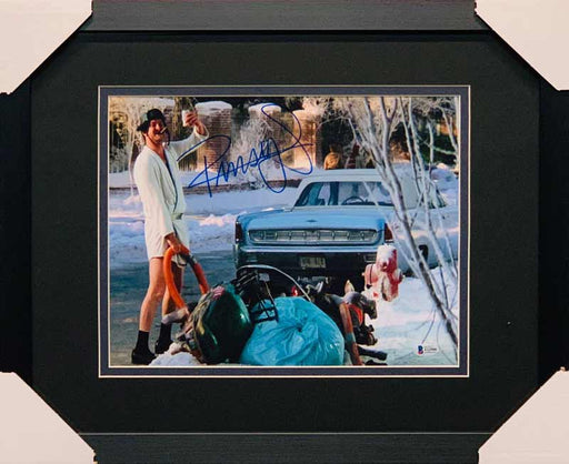 Randy Quaid Signed Christmas Vacation Outside in White Robe 11x14 Photo - Professionally Framed