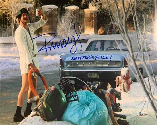 Randy Quaid Signed Christmas Vacation with Hose by Garbage 11x14 Photo with Shitter's Full