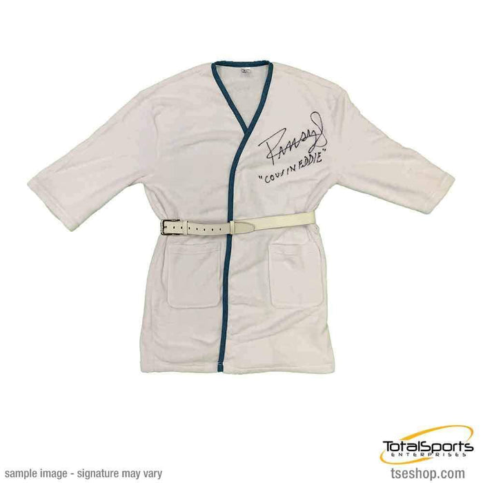 Randy Quaid Signed White Robe with Leather Belt with Cousin Eddie