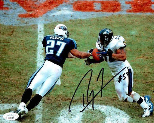 Ray Lewis Signed Interception Vs. Texans 8x10 Photo